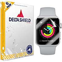 Apple Watch Screen Protector (42mm Series 3/2/1 Compatible)[6-Pack], DeltaShield BodyArmor Full Coverage Screen Protector for Apple Watch Military-Grade Clear HD Anti-Bubble Film