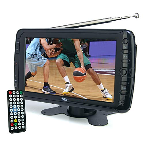 "Tyler TTV701 7"" Portable Widescreen LCD TV with Detachable Antennas, USB/SD Card Slot, Built in Digital Tuner, and AV Inputs"