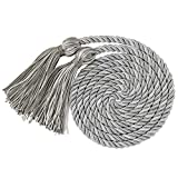 "GraduationMall Graduation Honor Cord 68"" SilverWhite"