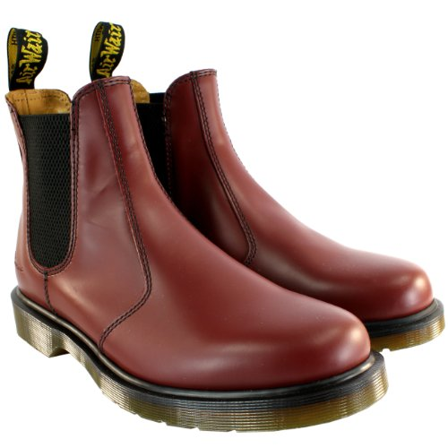 Womens Dr Martens Airwair Leather Chelsea Style Low Heel Ankle Boot - Red - 8 by Dr. Martens