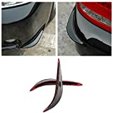 Black Car Corner Edge Front Rear Bumper Protector Guard Sticker For Honda Toyota Mitsubishi Mazda Subaru Huyndai