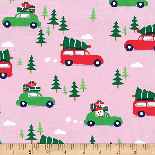 Michael Miller Home For The Holidays Holiday Shopping Candy Fabric by the Yard - Michael Miller Candy
