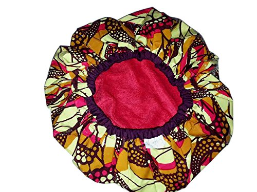 CaptivationsLUXE Extra Large, African Fire Shower Cap (Terry Lined)