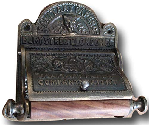 - Victorian Cast Iron Bury Street London Cast Iron Toilet Roll Holder