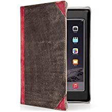 Twelve South BookBook for iPad mini, red | Vintage leather book case w/  typing angle and display stand for iPad mini (1st, 2nd, 3rd gen.)