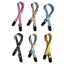 Adjustable Assorted Colour Napkin Clip Lanyard Bib Clip Neck Strap for Baby Elderly Adult (Pack of 4)