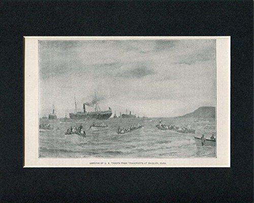 Landing US Troops Daiquiri Cuba Spanish American War Original Book Photo (American War Original Photo)