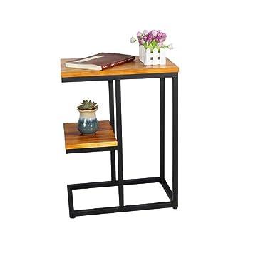 BinLZ-Table Mesa Auxiliar de Madera de Estilo Vintage, Mesa ...
