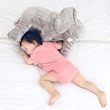 Rainbow Fox Baby Children's Long Nose Elephant Pillows Soft Plush Stuff Dolls Lumbar Pillow