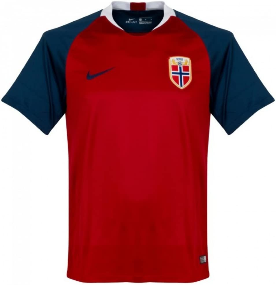 Nike 2018-2019 Norway Home Football Soccer T-Shirt Camiseta (Kids ...