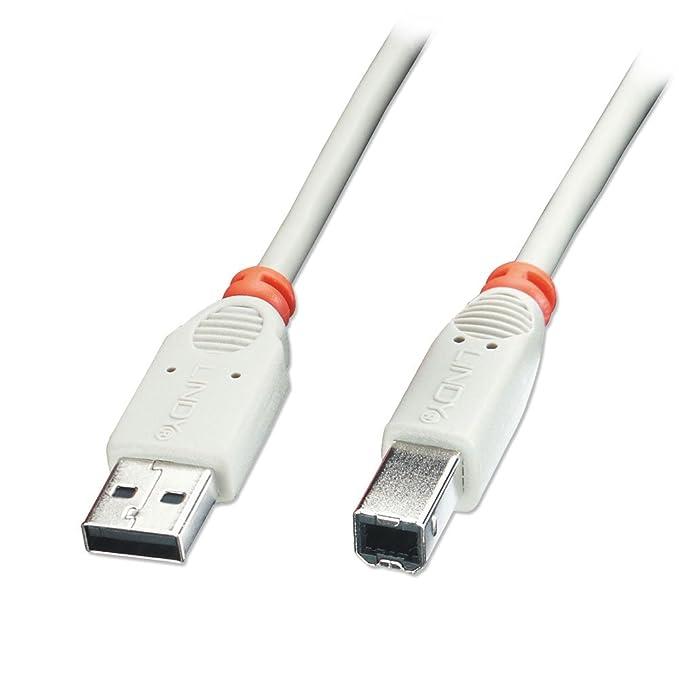 56 opinioni per Lindy 31647 Cavo USB 2.0, Tipo A Maschio / Tipo B Maschio, 5m, colore: Grigio