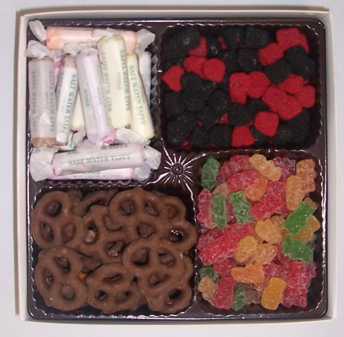 Scott's Cakes Large 4-Pack Raspberries and Blackberries, Sour Gummie Bears, Salt Water Taffy, & Chocolate Pretzels