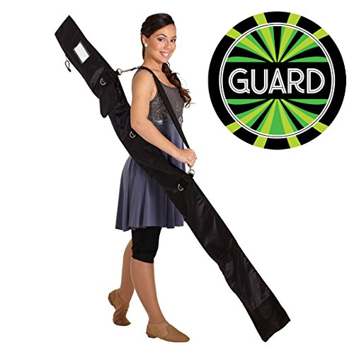 Guard Flag Bags - DSI Color Guard Personal Flag Pole, Rifle, Sabre Equipment Bag (New Version) and Decal Bundle