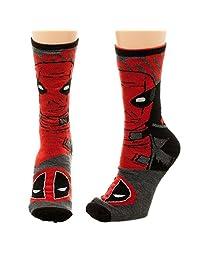Marvel Deadpool Reversible Men's Crew Socks