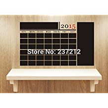 2016 NEW 2015 New Diy Monthly Chalkboard Calendar With Large Note Panel Vinyl Wall Stickers Wall Decals (With Free Numbers Through 2019)