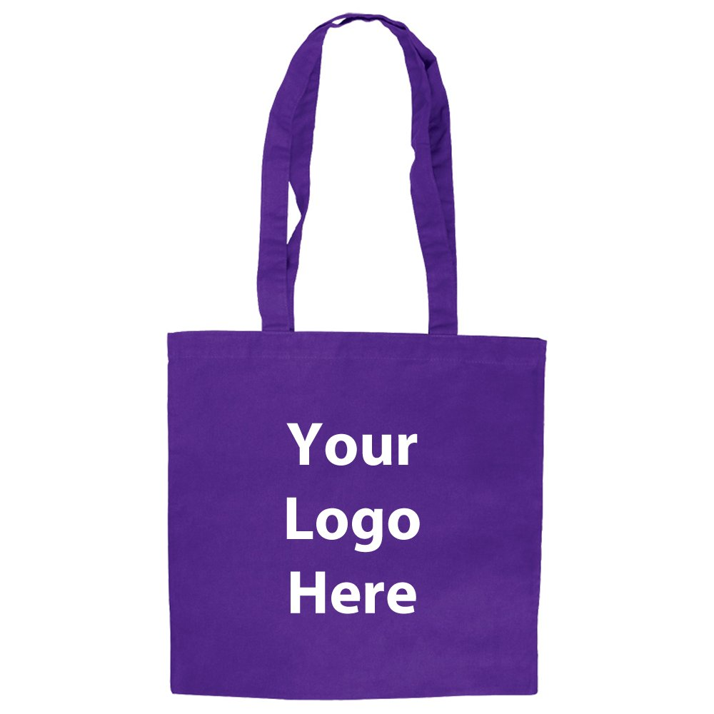 Basic Cotton Tote - 100 Quantity - $3.10 Each - PROMOTIONAL PRODUCT / BULK / BRANDED with YOUR LOGO / CUSTOMIZED