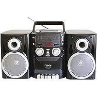 Naxa NPB426 Portable Boombox CD Cassette Player AM/FM Radio Detachable Speakers Electronic Accessories