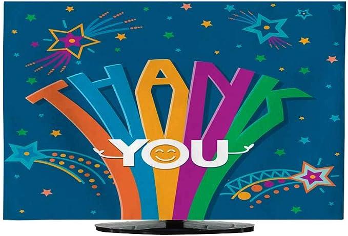 TV a Prueba de Polvo Cubierta paño Gracias Escrito a Mano Letras vector130/32: Amazon.es: Electrónica