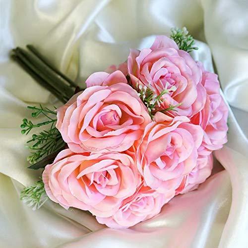 Mikash Silk Roses Artificial Bouquets Wedding Flowers Centerpieces Decoration Wholesale   Model WDDNGDCRTN - 14274   20 -
