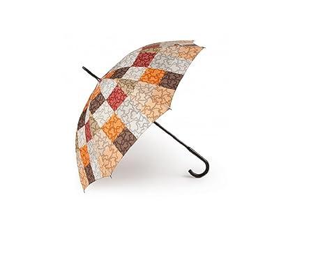 Paraguas Tous grande Kaos Cuadrados en color naranja-marrón