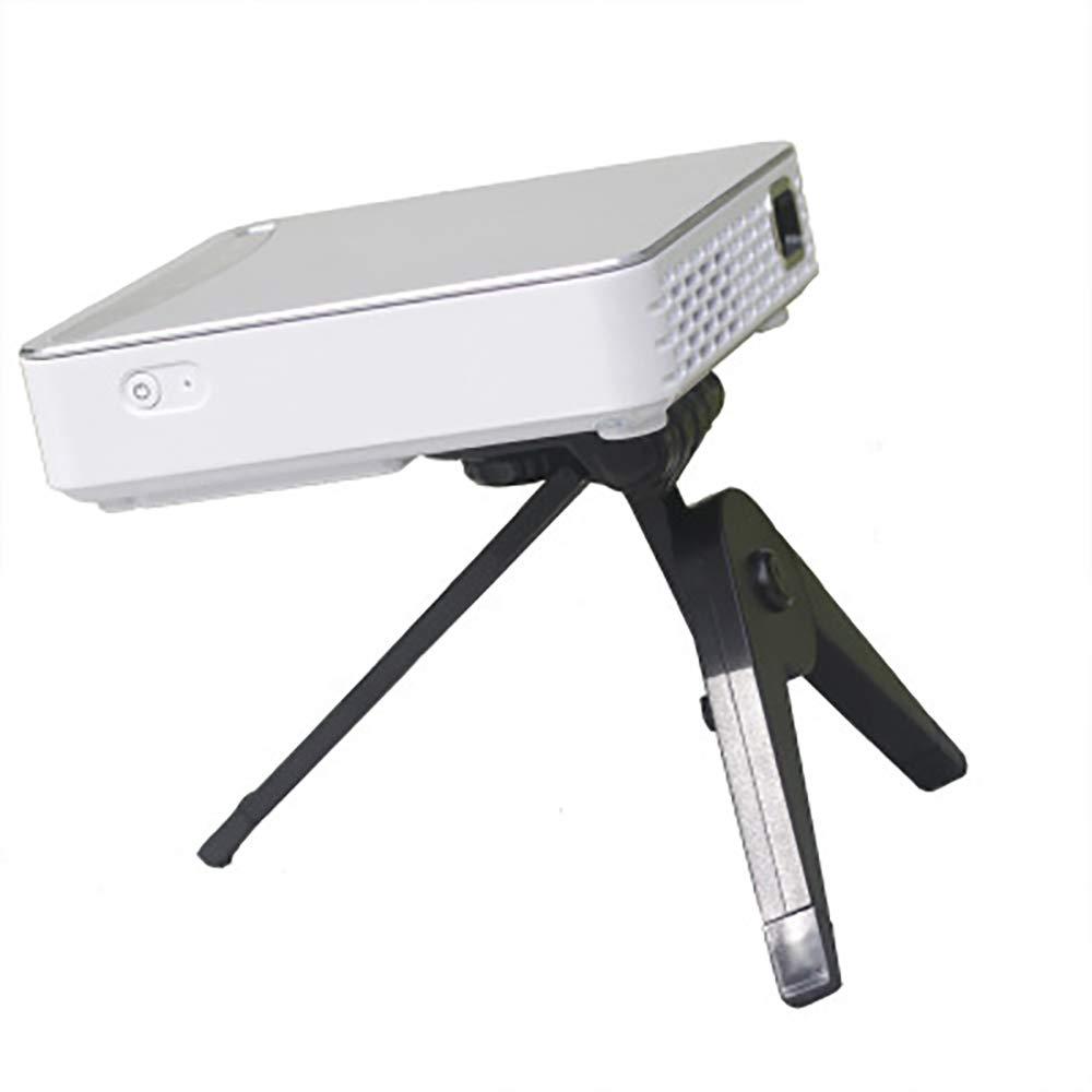 ミニプロジェクター、フルHD 1080 Pおよび170インチサポート、ポータブルムービー、USB/TF/AV/TVスティック/VGA/HDMI/VGAとの互換性   B07RTVX427