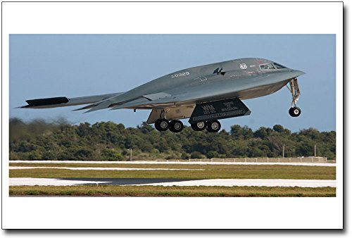 B-2 Spirit Stealth Bomber Taking Off 8x12 Silver Halide Photo (B2 Stealth Bomber Pictures)