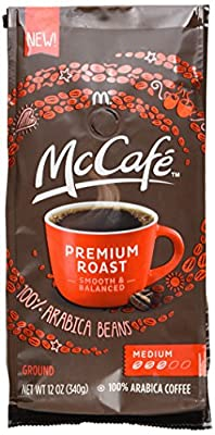 MCCAFE Coffee, Premium Roast, Medium, Ground, 12 Ounce