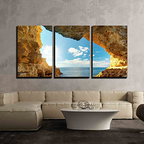 wall26 - 3 Piece Canvas Wall Art - Inside of Mainsail. Nature Composition. - Modern Home Decor Stretched and Framed Ready to Hang - 24