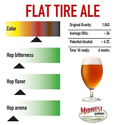 Flat Tire Belgian Style Amber Ale Homebrew Beer Recipe Kit – Malt Extract and Ingredients for 5 Gallons