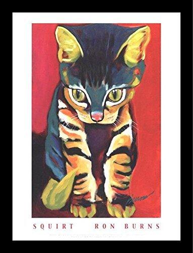 Burns Framed Print - Buyartforless Framed Squirt by Ron Burns 24x18 Art Poster Print Cute Funny Animals Cat Kitten
