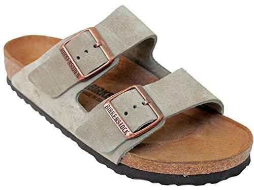 Birkenstock (Men's) Arizona Cork-Footbed Sandals Taupe Suede [New Style], 44 M EU / 11-11.5 B(M) US Men