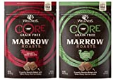 Wellness CORE Grain Free Marrow Roasts 2 Flavor Variety Bundle: (1) CORE Hearty Beef - (1) CORE Savory Turkey - 8 Oz. Ea.