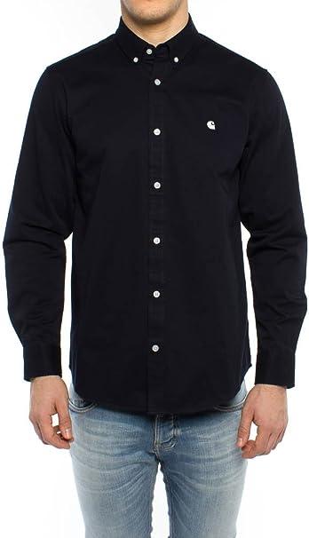Carhartt Camiseta L/S Madison Shirt Hombre Multicolore (Dark ...