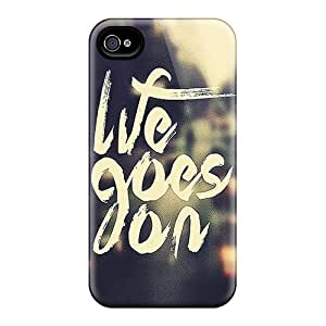 IlOnpyH7568TFDzk Jeffrehing Awesome Case Cover Compatible With Iphone 4/4s - Life Goes On