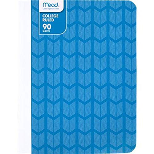 Mead Composition Book/Notebook, College Ruled Paper, 90 Sheets, Fashion, Blue (09606BD8)
