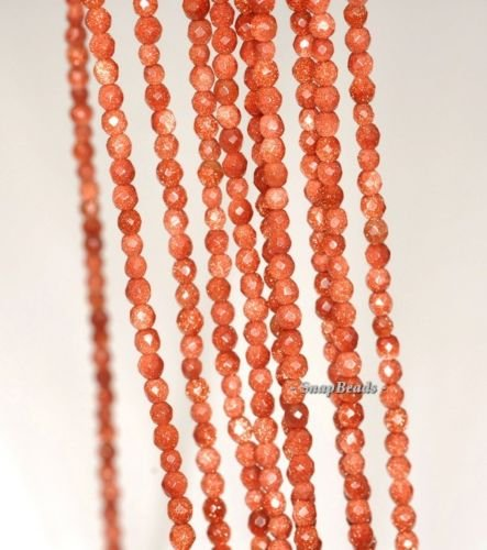 2MM Sirius Golden Sandstone Gemstone Gold Faceted Round 2MM Loose Beads (16' 2mm Stone)