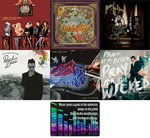 Panic! at the Disco: Complete 6 Studio Albums CD Collection with Bonus Art Card (Pray for the Wicked / Death of a Bachelor / A Fever You Can't Sweat Out and More)