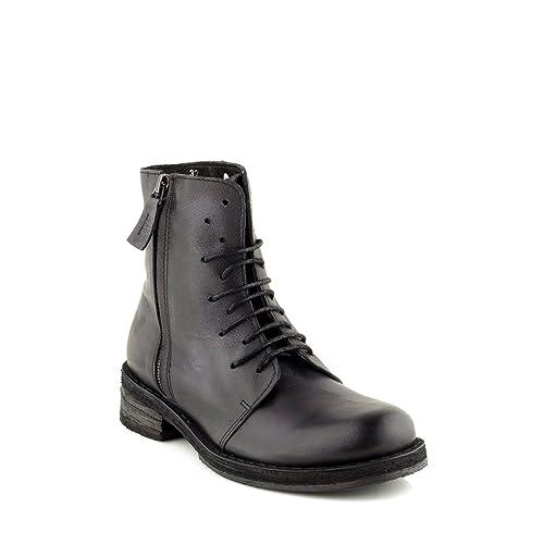 Felmini - Zapatos de cordones de Piel para mujer negro negro negro Size: 37 EU 3h8M87V