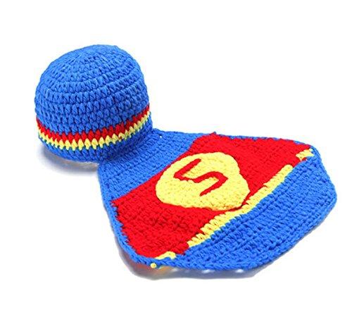 Rush Dance Super Hero Red Blue Yellow Beanie Photo Prop Costume Hat (Superbaby) (Sassy Dance Costumes)
