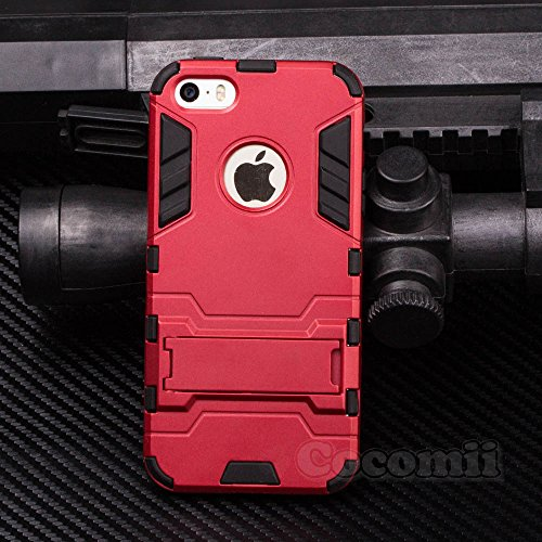iPhone SE 5S 5C 5 claim Cocomii Iron Man Armor NEW Heavy obligation Premium Tactical Grip Kickstand Shockproof Hard Bumper Shell Military Defender filled Body dual Layer bumpy Cover Apple Batman Cases