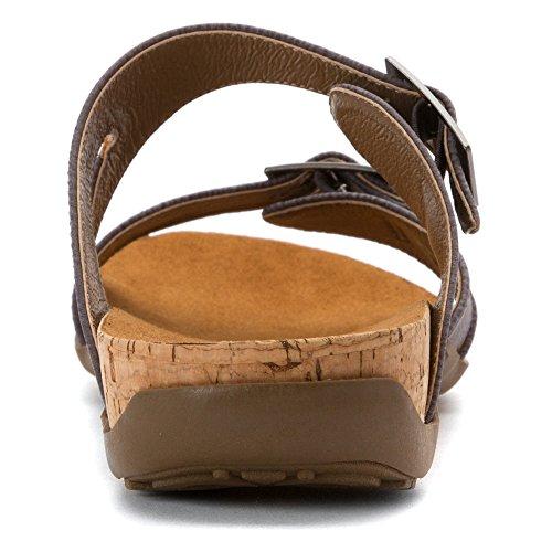 Bearpaw Kvinners Maddie Krenget Sandal Plomme
