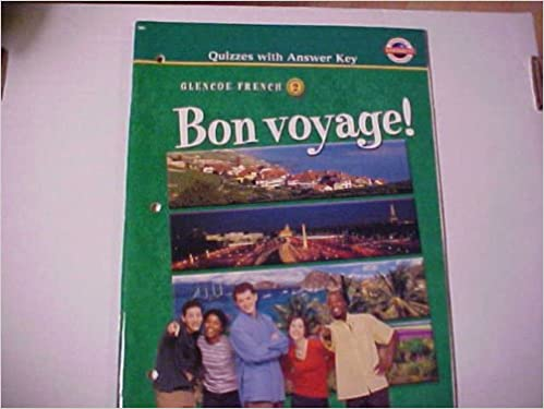 Bon Voyage Level 2 Quizzes With Answer Key McGraw Hill