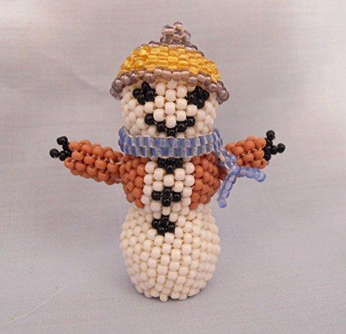 Zuni Native American Pueblo Indian Beaded Snowman By Claudia Cellicion - Beaded Snowman