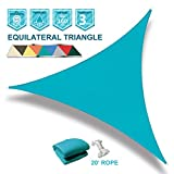 Coarbor 20'x20'x20' Triangle Light Green UV Block Sun Shade Sail Perfect for Patio Outdoor Garden