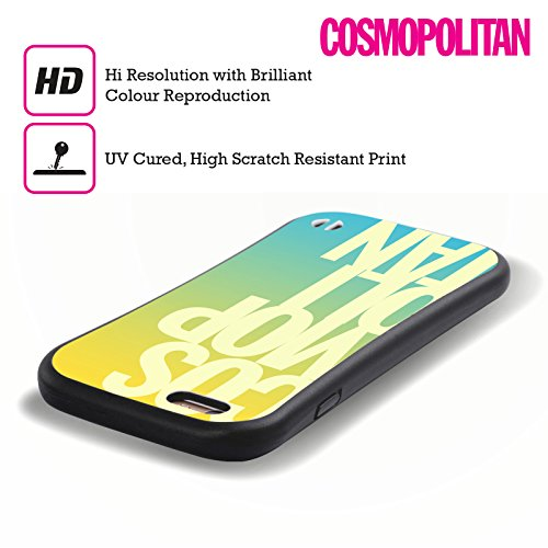 Official Cosmopolitan Ombre Stacked Logo Hybrid Case for Apple iPhone 5 / 5s / SE