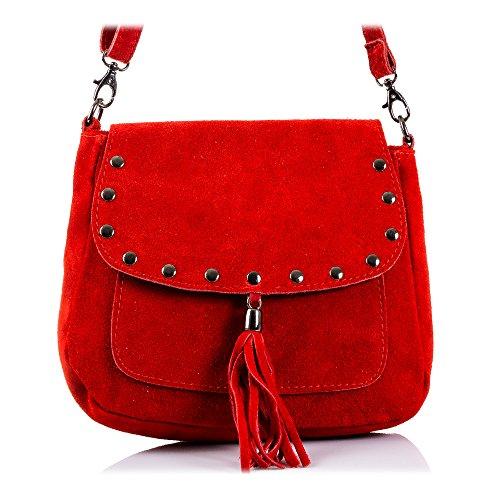 FIRENZE ARTEGIANI, Sac pour femme à porter à l'épaule Taupe rouge