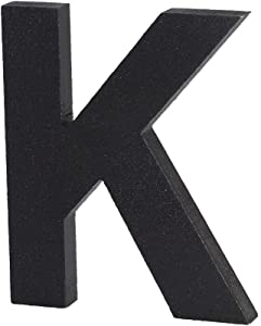 Black Decorative Wood Letters, Hanging Wall Letters Wooden Alphabet Wall Letter K for Home Bedroom Wedding Birthday Party Decor-Letters (K)