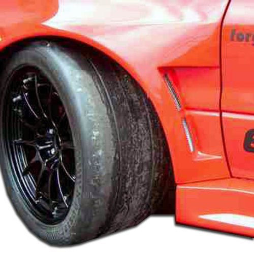 Extreme Dimensions Duraflex Replacement for 2003-2006 Mitsubishi Lancer Evolution 8 9 GT500 Wide Body Front Fenders - 2 Piece
