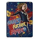 """Marvel Capitán, más Alto, más rápido, Manta de Micro Raschel, 46"""" x 60"""", Multicolor"""