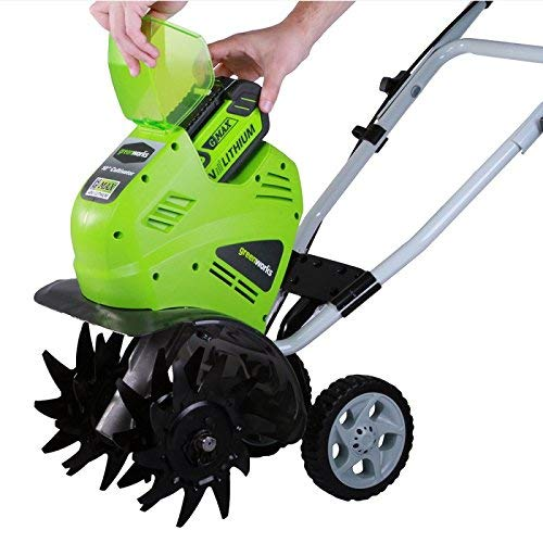 Greenworks 10-Inch 40V Cordless Cultivator, Battery Not Included 27062A (Renewed)